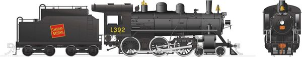 Rapido Ho Scale H-6-g Canadian National #1392 (4-6-0) DCC & Sound *Reservation*