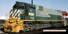 Bowser Ho Scale M630 BCR Two Tone Green W/ Nose Stripes, Recessed Nose Ditchlights DCC & Sound *Pre-order*