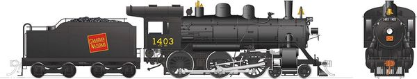 Rapido Ho Scale H-6-g Canadian National #1403 (4-6-0) DCC & Sound *Reservation*