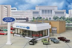 Walthers Cornerstone HO Scale Wayne Bros. Ford Dealership