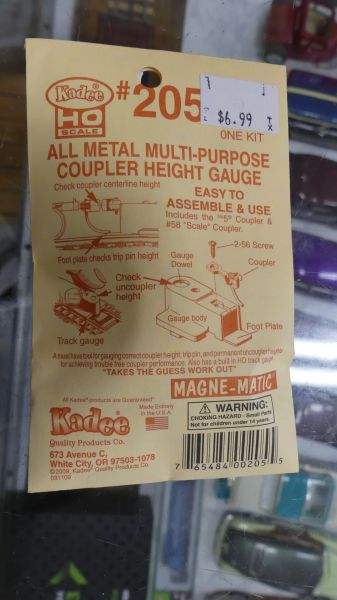 Kadee #205 All Metal Multi Purpose Coupler Height Gauge