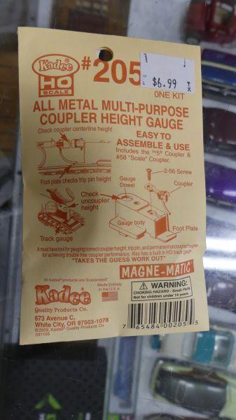 Kadee #205 All Metal Multi Purpose Coupler Height Gauge