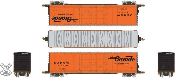 Scaletrains Kit Classics Ho Scale 50' Evans 5100 8 Double Plug Door Boxcar Rio Grande