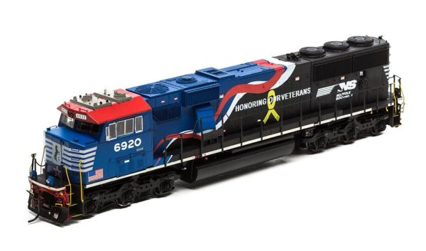 "Athearn Genesis Ho Scale SD60E Norfolk Southern ""Honoring Our Veterans"" #6920 DCC Ready"