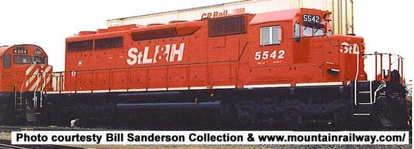 Bowser Ho Scale SD40 St.Lawrence & Hudson W/ Ditchlights, DCC & Sound *Pre-order*