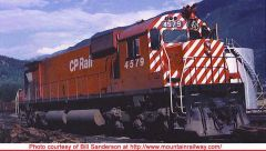 "Bowser Ho Scale M630 CP Rail 5"" Stripe W/O Water Tank & Ditchlights DCC & Sound *Pre-order*"