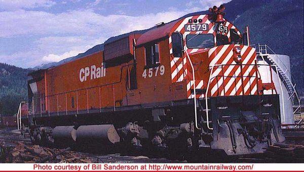 "Bowser Ho Scale M630 CP Rail 5"" Stripe W/O Water Tank & Ditchlights DCC & Sound *Pre-order*"