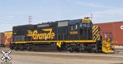 "Scaletrains Rivet Counter Ho Scale Rio Grande SD40T-2 ""Tunnel Motor"" DCC & Sound"