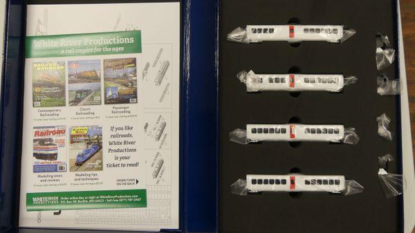 Rapido N Scale TurboTrain Canadian National 4 Car Add-on Set DC/DCC