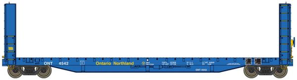 Walthers Proto C.C.& F. 50' Bulkhead Flatcar Ontario Northland *Pre-order*