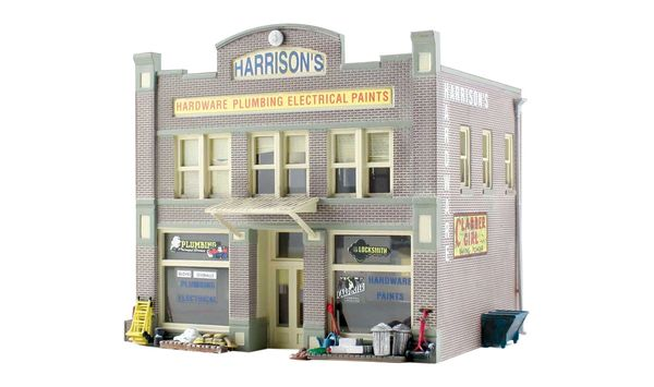 Woodland Scenics HO Scale Built & Ready Harrison's Hardware