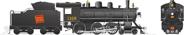 Rapido Ho Scale H-6-d Canadian National #1328 (4-6-0) DCC & Sound *Reservation*