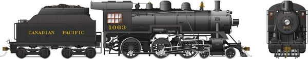 Rapido Ho Scale Canadian Pacific D10k 4-6-0 #1063 DCC Ready *Reservation*