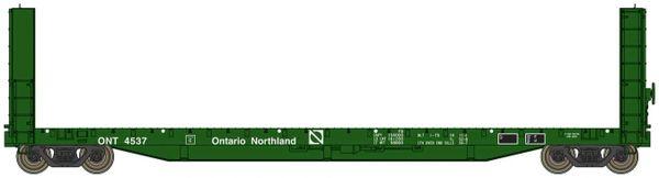 Walthers Proto C.C.& F. 50' Bulkhead Flatcar Ontario Northland (Green) *Pre-order*