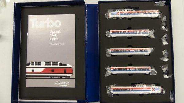 Rapido N Scale TurboTrain Late Amtrak DCC & Sound