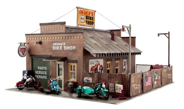 Woodland Scenics HO Scale Built & Ready Deuces Bike Shop