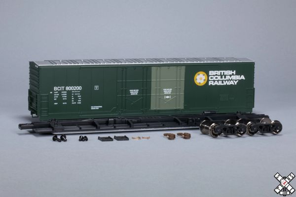Scaletrains Kit Classics Ho Scale 50' Evans 5100 8 Double Plug Door Boxcar British Columbia Railway