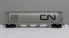 Rapido Ho Scale 3800 Cu. Ft. Cylindrical hopper CN Black Wet Noodle 6 Pack
