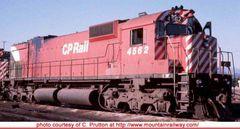 "Bowser Ho Scale M630 CP Rail 5"" Stripe W/ Water Tank & Ditchlights DCC & Sound *Pre-order*"