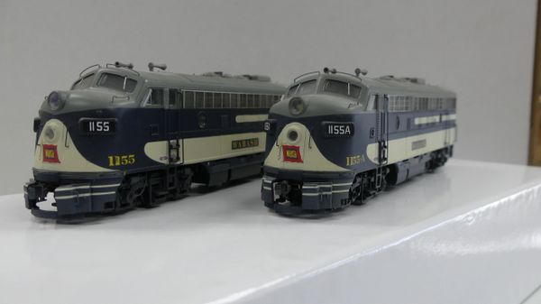 Custom Proto 2000 Wabash F7 A-A Sets DCC & Sound