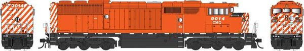 Bowser Ho Scale SD40-2F Central Maine & Quebec Red Round Port Hole W/Ditchlights DCC & Sound *Pre-order*