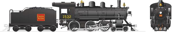 Rapido Ho Scale H-6-d Canadian National #1532 (4-6-0) DCC Ready *Reservation*