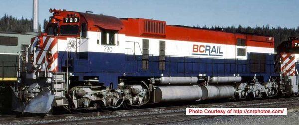 Bowser Ho Scale M630 BC Rail Non Hockey Stick Paint Scheme Recessed Nose Ditchlights W/External Air Filters DCC & Sound *Pre-order*
