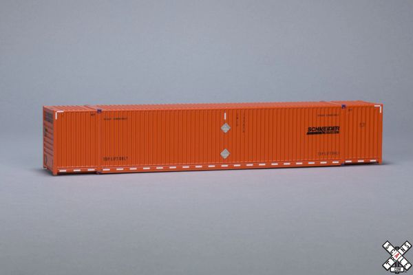 Scaletrains Operator Ho Scale 53' Dry Container 3-Pack Schneider