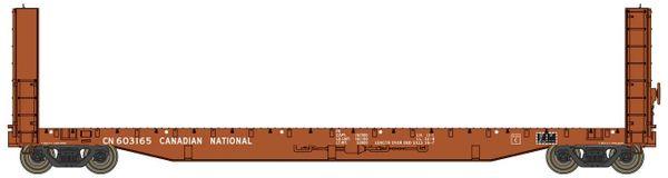 Walthers Proto C.C.& F. 50' Bulkhead Flatcar CN Brown *Pre-order*