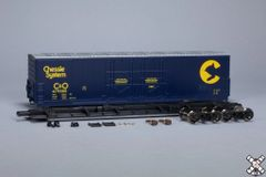 Scaletrains Kit Classics Ho Scale 50' Evans 5100 8 Double Plug Door Boxcar Chessie System