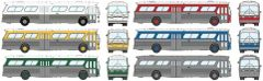 Ho Scale Rapido Painted Silver Unlettered GMC Bus Standard Edition