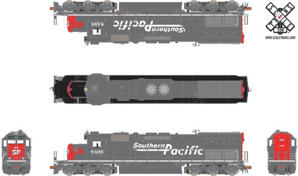 Scaletrains Ho Scale SD40T-2 Southern Pacific/Speed Lettering DCC Ready W/Ditchlights *Reservation*