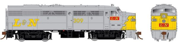 Rapido Ho Scale FA-2 Louisville & Nashville (grey/yellow) DCC & Sound *Pre-order*