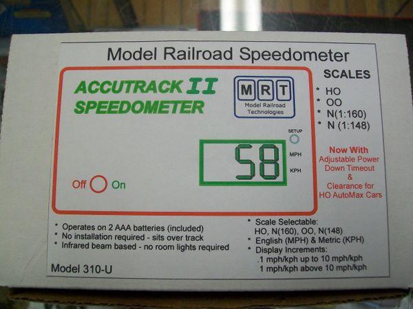 Model Railroad Speedometer Accutrack II