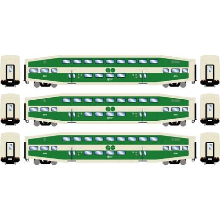 Athearn RTR Bombardier GO Transit 3 Pack of Coaches