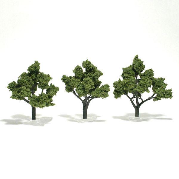"Woodland Scenics 4-5"" Light Green Premium Trees 3/Pk"