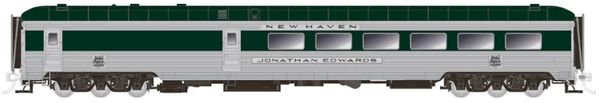 Rapido Ho Scale New Haven – Delivery Scheme with skirts Stainless Steel Dining Car *Pre-order*