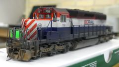 Bowser Ho Scale SD40-2 Custom Weathered BC Rail #759 DCC & Sound