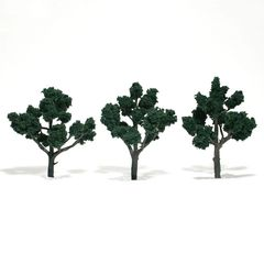 "Woodland Scenics 4-5"" Dark Green Premium Trees 3/Pk"