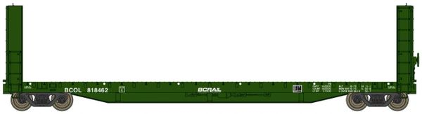 Walthers Proto C.C.& F. 50' Bulkhead Flatcar BC Rail *Pre-order*