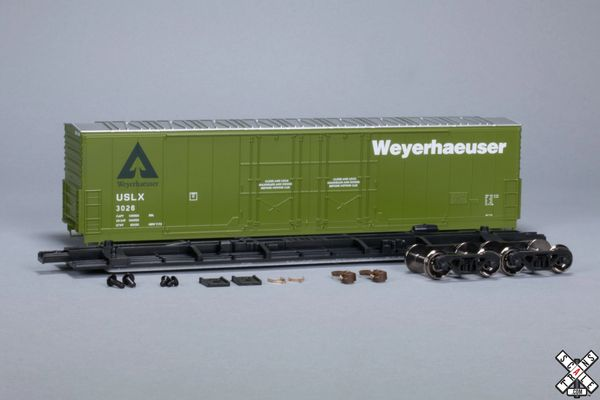 Scaletrains Kit Classics Ho Scale 50' Evans 5100 8 Double Plug Door Boxcar Weyerhauser