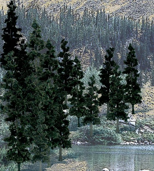 "Woodland Scenics 4-6"" Conifer Green Premium Trees 24/Pk"