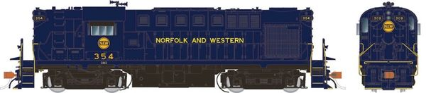 Rapido Ho Scale RS11 Norfolk & Western (blue with Hamburger logo) DCC Ready *Pre-order*