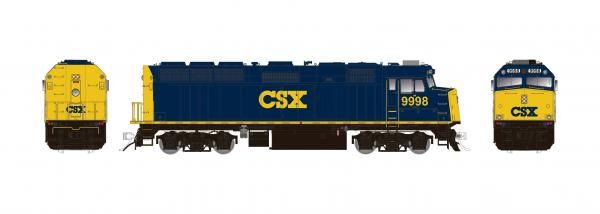 Rapido Ho Scale CSX (with larger fuel tank) F40PH Phase II W/Ditchlights DCC & Sound *Reservation*