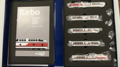 Rapido N Scale TurboTrain Early Amtrak DCC & Sound
