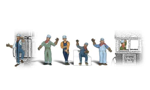 Woodland Scenics Ho Scale Engineer Figure Pack