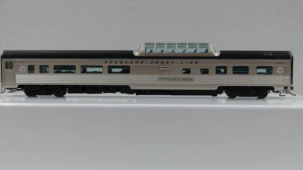 Rapido Ho Scale Budd Mid Train Dome Cars Seaboard Coast Line