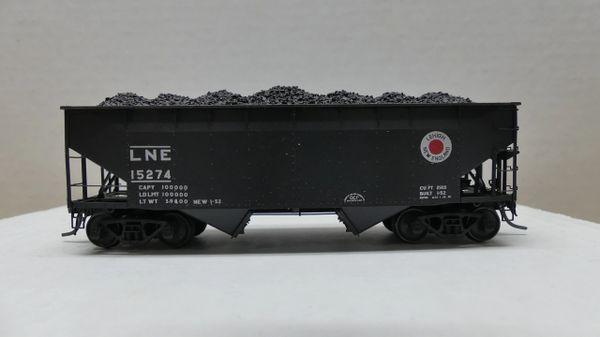 Kadee Custom 50 Ton AAR Standard 2 Bay Offset Open Hopper Lehigh & New England #15274
