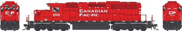Bowser Ho Scale SD40-3 (3rd Release) Canadian Pacific Block Lettering W/Ditchlights (On Both Ends) DCC Ready *Pre-order*