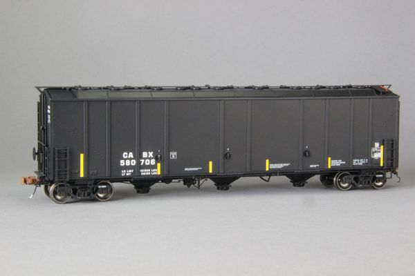 """Ho Scale Scaletrains Rivet Counter Cabot/CABX Thrall 5750 """"1970's Version"""" Carbon Black Hoppers"""